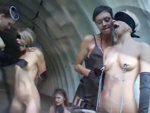 Latex and lesbian BDSM