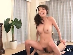 Hot bodied naked asian double banged in hardcore 3some