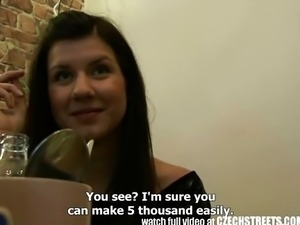 Czech Streets - Young Teen Girl Gets it Hard