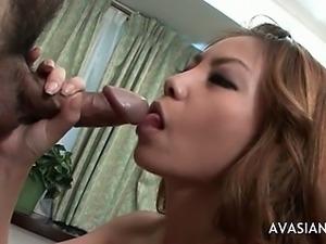 Small Tits Japanese Teen Gagging Blowjob and Facial