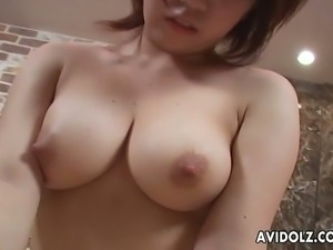 Young japanese babe rides a cock