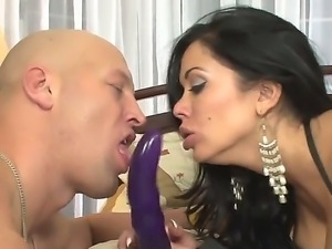 Sienna West has extremely huge breasts and super hot dildo for her friend...