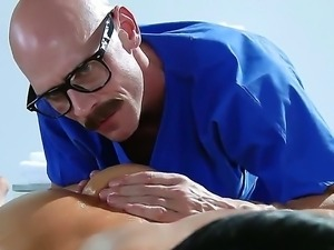 Time for dirty and hot massage for Audrey Bitoni from crazy masseur Johnny Sins