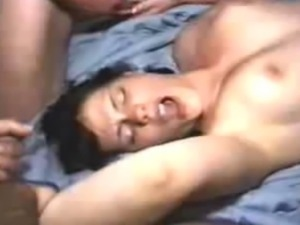 7 Men take turns to cum in girlfriends pussy