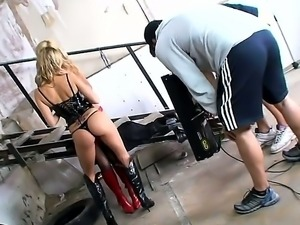 Hardcore backstage with an amazing babe Blue Angel and a sexy chick Sophie Moone