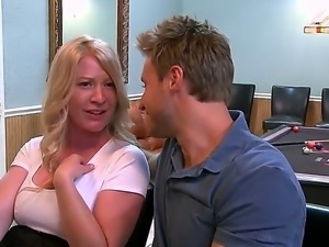Busty and horny mature lets hunk to smash her tight pussy and make her feel...