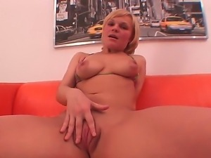 Shameless Klara prefers to play with various sex toys and lick her delicious...