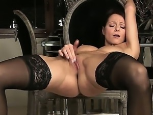 Marvelous dark haired babe with a body of an angel Melisa Mendiny is...