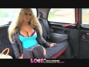 Love Creampie Beautiful blonde didnt say he could cum inside her