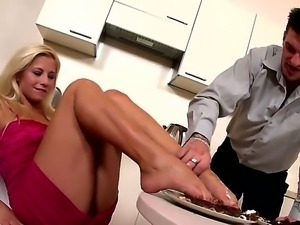 Gorgeous Candy Love is being teased by her new boyfriend, that cant get...