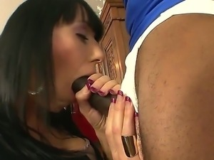 Hot interracial scene with a crazy bitch Alia Janine, Jimmy Broadway and Sean...