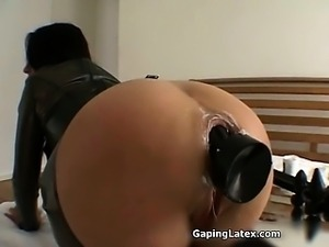 Nasty brunette slut goes crazy dildo part3