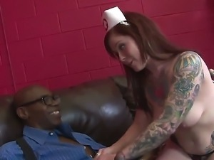 Hardcore interracial scene with a horny girlfriend Misti Dawn and Sean Michaels