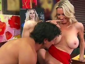 Art addict lady Emma Starr fucking with a little-known artist Tommy Gunn