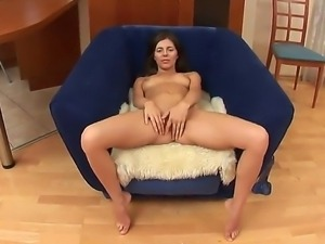 Young Monica B loves having her tight ass deep drilled with amazing dildo