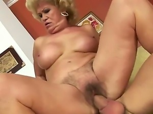 Crazy granny named Effie gets a young cock in her old and tight pussy