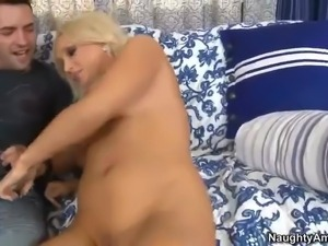 Beautiful blonde milf Diana Doll with sweet mouth and totally