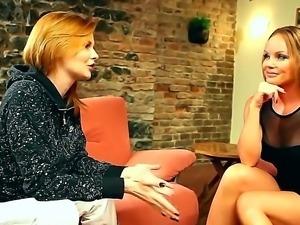 MAture Silvia Saint enjoys hot interview along pornstar Tara White who is...
