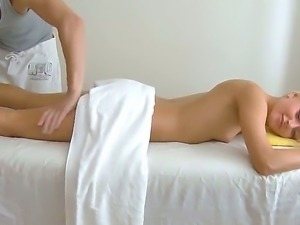 Sweet Ivy is getting her hot slim body massaged with wet pussy licking from...
