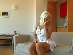 Blonde babe Bibi Fox just cant handle the size of the huge cock of her boyfriend