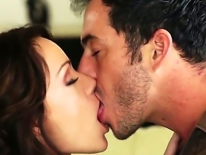 Flawless brunette hottie Sophie Lynx deepthroats the big dick of her lover...