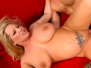 Busty Rachel Love pleases horny guy Richie by deep sucking his long dick