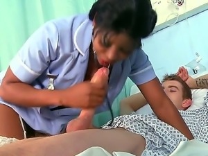 Danny D needs some treatment and hot ebony nurse Jasmine Webb knows exactly...