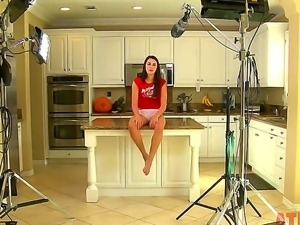 What the hell is happening  in the kitchen with sexy whore Alannah Monroe