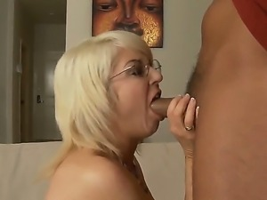 Busty blonde Sindi Star enjoys intense pleasure during hardcore sex with...