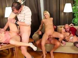 Bella Karina,Denisa Heaven and Yenna Love are participating in a wild orgy...
