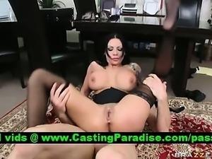 Mason Moore stunning brunette gets anal fucked