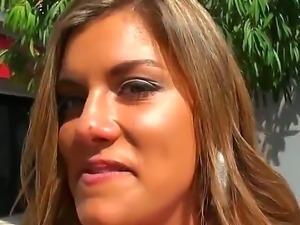 Beautiful deviate girl Bella Beyle meet Jmac on the street and callin him for...