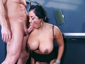 Dangeour fatty secretary Kiara Mia meets her young co-worker John Strong with...