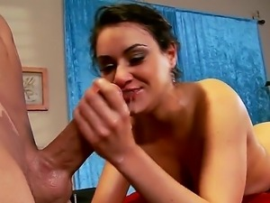 Billy Glide enjoys rubbing and masaging sweet babe with huge tits Charley Chase