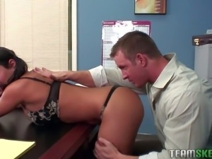 Busty sexy hottie Charley Chase is is a school slut