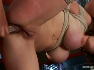 Black guys with big sized cocks gangbang bound big titted
