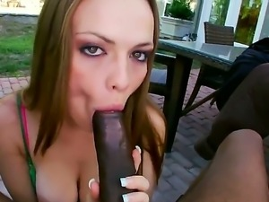 Monica Rise gest nailed by one huge black monster cocks wich makes her scream