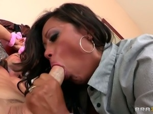 Big boobed Maxine X finds her son's friend Johnny Sins