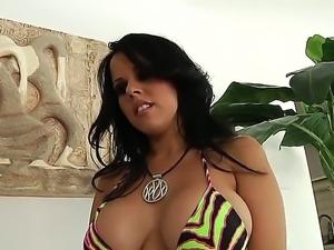 Enjoy delicious brunette pornstar Diamond Kitty having fun with Mark Wood at...