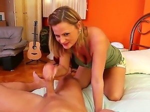 All natural blonde milf Becca Blossoms fucking with her best friends son Bill...