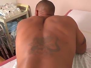 Dana Vespoli anjoys examining Robert Axels ass before she fucks him hard in...