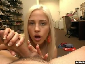 Attractive blonde Jayden Pierson is topless and shows her natural