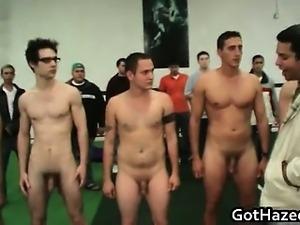 Fresh straight college guys get gay hazed 59