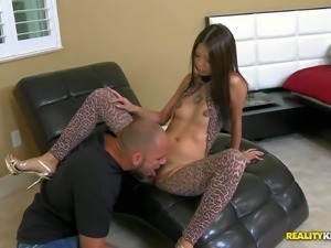 Sexy skinny asian Kim Kong is a wonderful exotic girl