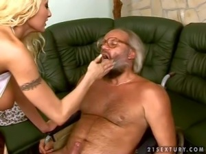 Tall smoking blonde blonde nurse Trisha with long legs and huge juicy...