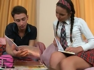 Hot lesson of beautiful russian chick