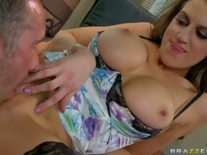 Eve Laurence is a big breasted business lady that needs