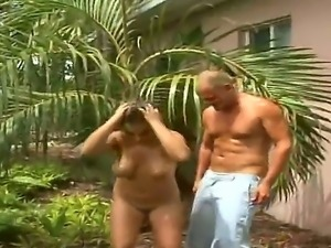 Busty mature woman Angelica gets her juicy mellons fucked after a spicy blowjob