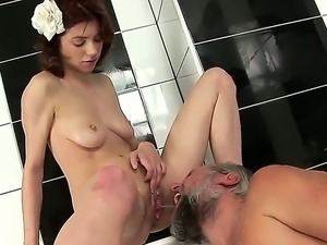 Naughty babe Brigitta loves letting big old cocks ramming her wet juicy meat...