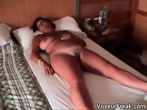 Hot big boobed nasty chubby MILF slut